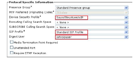 SIP Profile