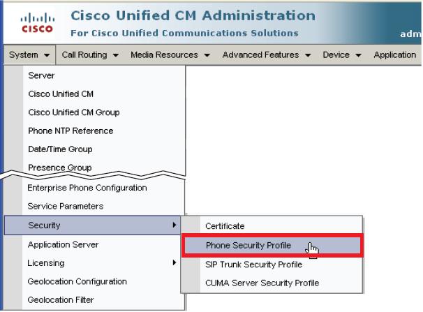 Phone Security Profile