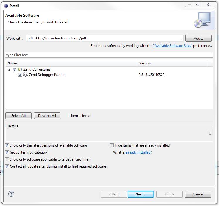 install the debugger