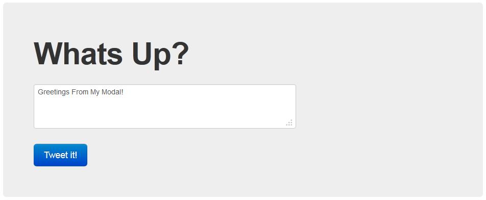 javascript popup modal