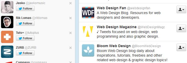 web design twitter