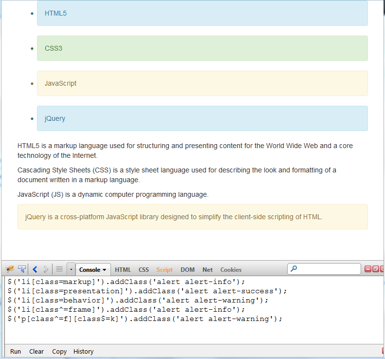 jquery attribute filters