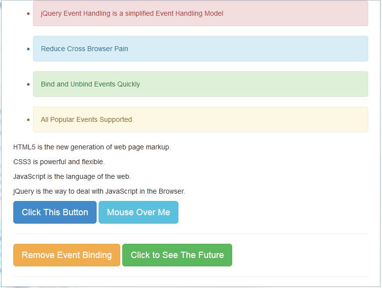 jquery event handling