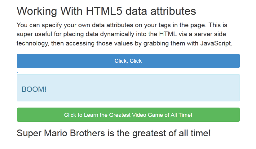 html data attributes
