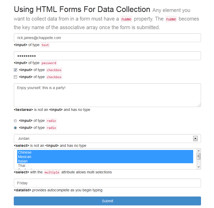 HTML Form Tutorial - Web Development Tutorials