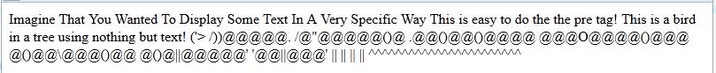 html no pre tag