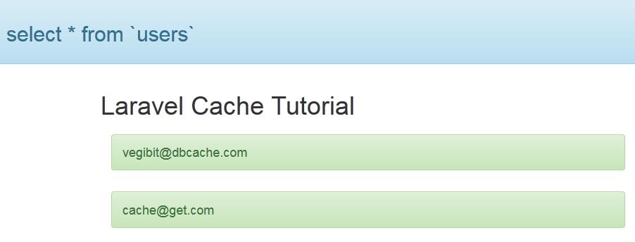 laravel cache example