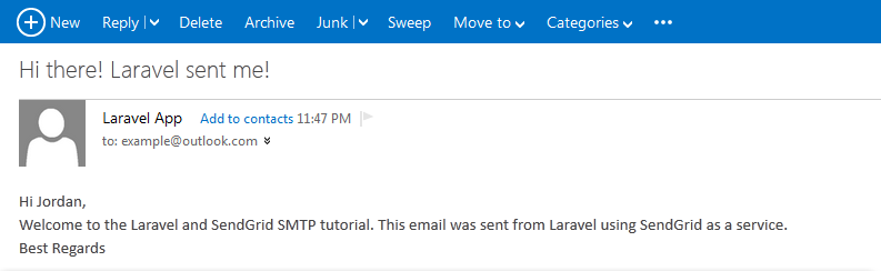laravel email inbox
