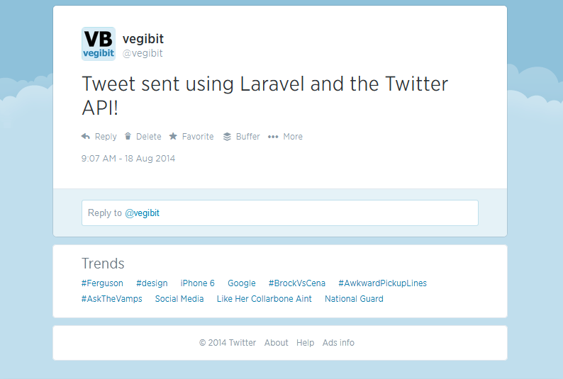 laravel twitter tutorial
