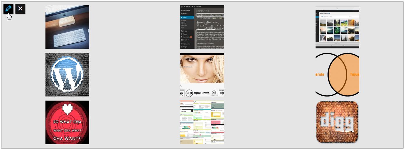 Editar galería de WordPress