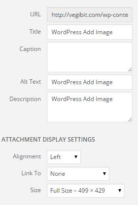 Detalles de imagen de WordPress