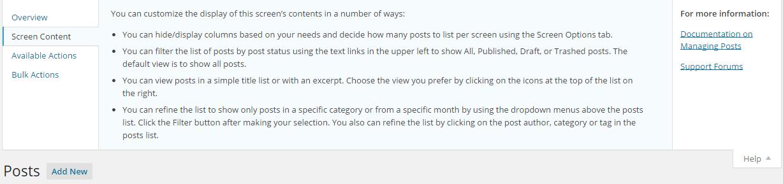 Ayuda de publicaciones de WordPress