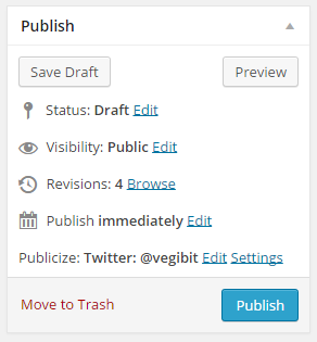 WordPress Publish Widget