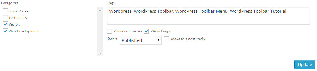 WordPress Quick Edit