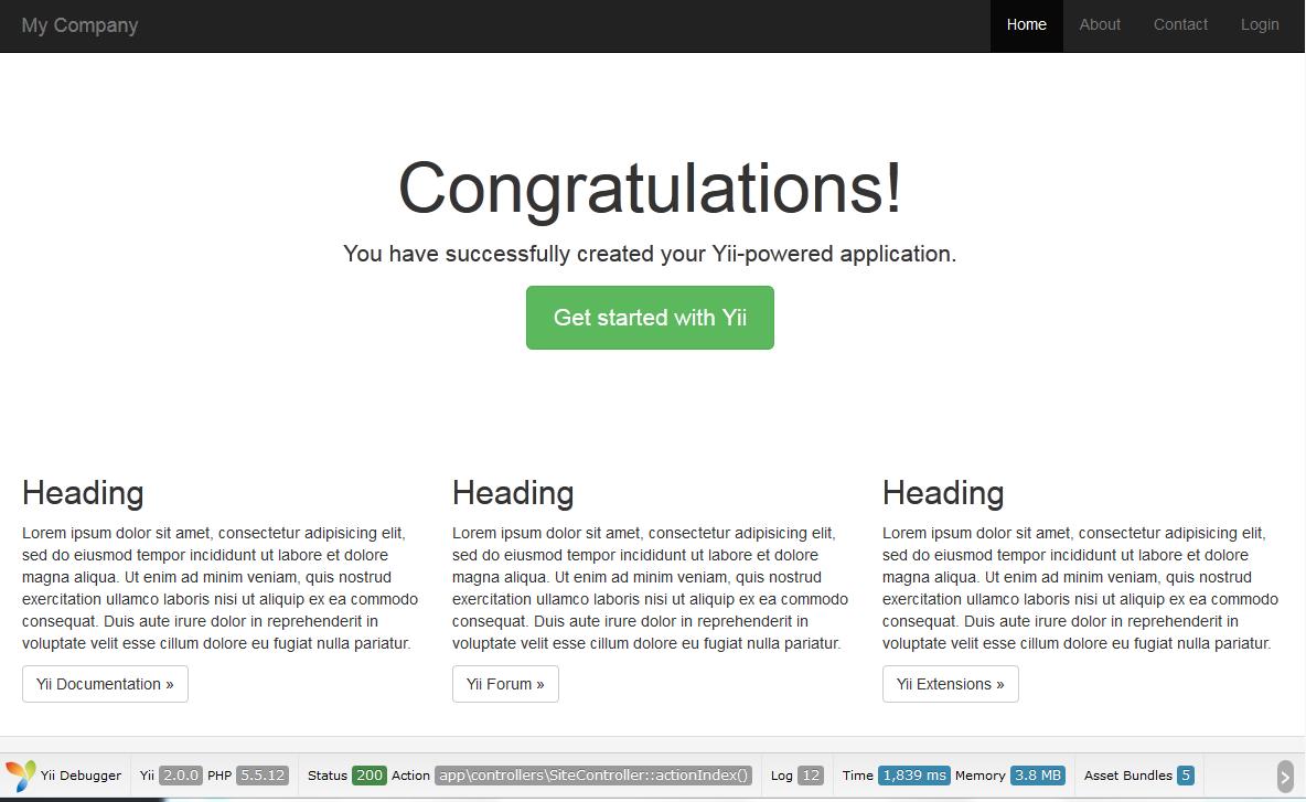 Install The Awesome Yii 2 Framework – Vegibit