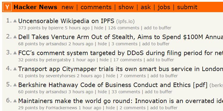 hacker news cool website