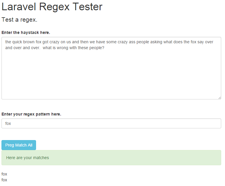 laravel regex success two