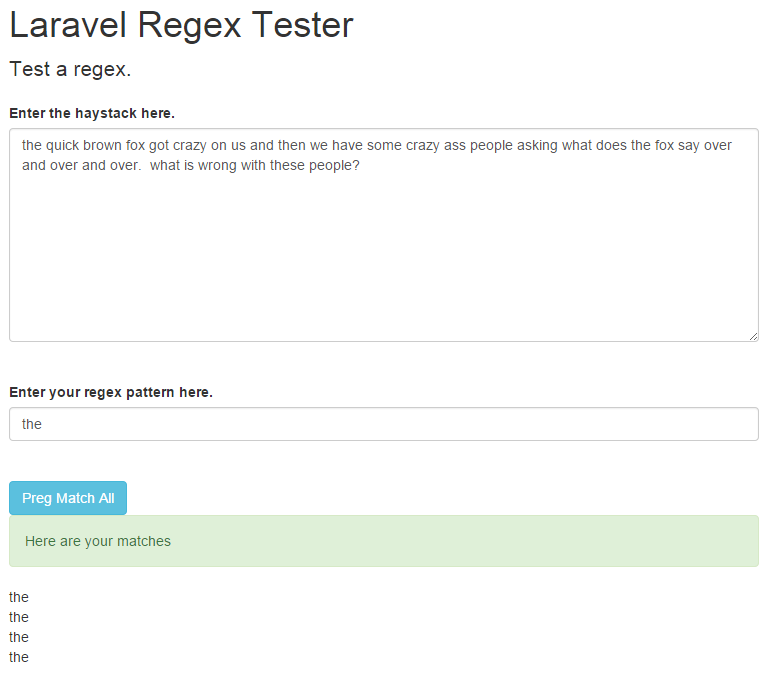 laravel regex success