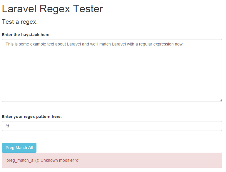 regex catch exceptions