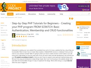 codeproject-Step-by-Step-PHP-Tutorials-for-Beginners