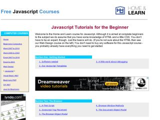 JavaScript Tutorials For Beginners homeandlearn-javascript