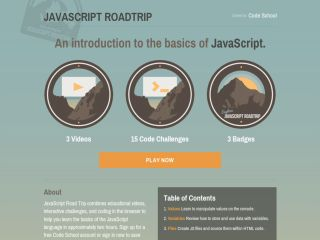 Tutoriales de JavaScript para principiantes javascript-roadtrip-codeschool