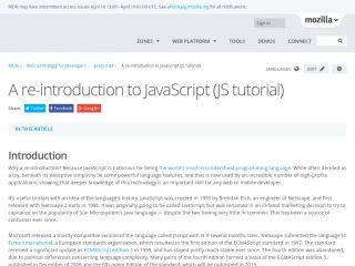 JavaScript Tutorials For Beginners mozilla-a-re-introduction-to-JavaScript