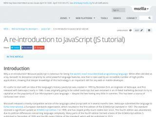 Tutoriales de JavaScript para principiantes mozilla-a-re-Introduction-to-JavaScript