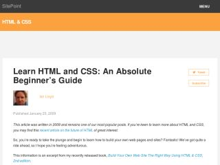 Html Tutorials For Beginners sitepoint.com-html-css-beginners-guide