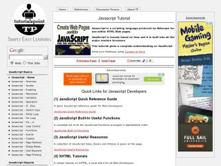 tutorialspoint-javascript Tutoriales de JavaScript para principiantes