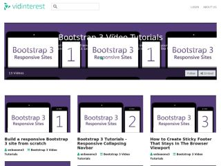 vidinterest-bootstrap-3-video-tutorials