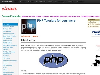w3resource-php