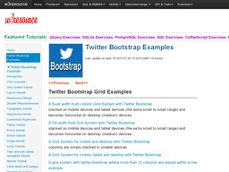 w3resource-twitter-bootstrap
