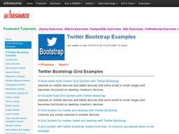w3resource-twitter-bootstrap
