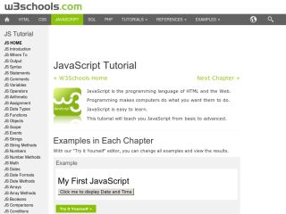 JavaScript Tutorials For Beginners w3schools-javascript