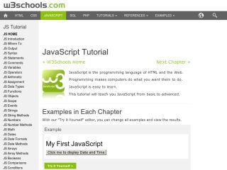 JavaScript Tutorials For Beginners w3schools-javascript