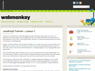 webmonkey-javascript-tutorial Tutoriales de JavaScript para principiantes
