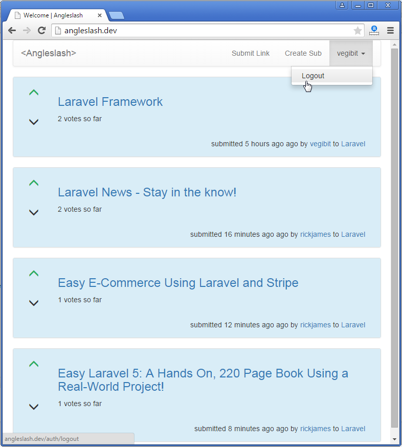 Laravel link sharing website