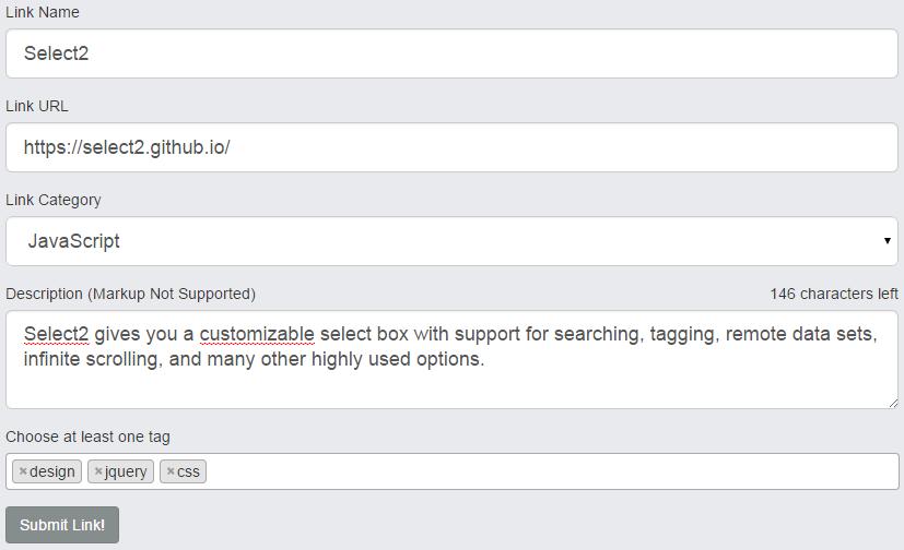 select2 tags