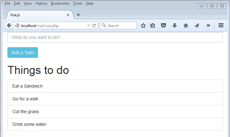 add items to an array Vue js