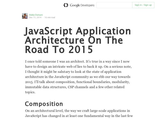 JavaScript Application Architecture