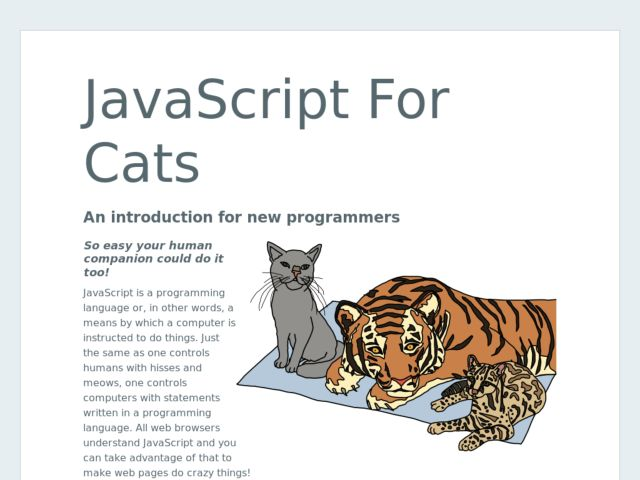 JavaScript For Cats