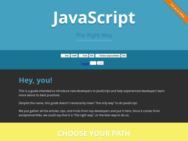JavaScript The Right Way