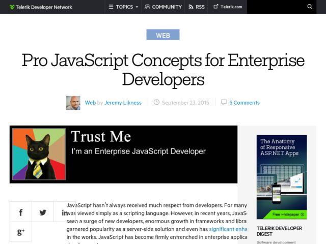 Pro Javascript Concepts