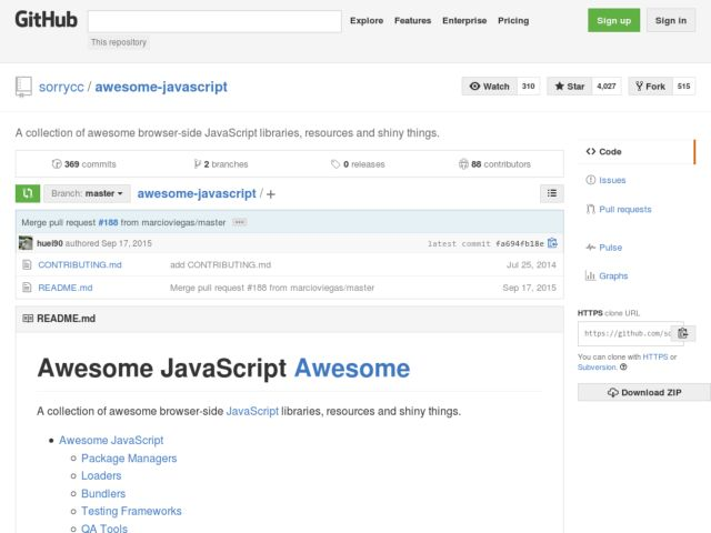 awesome javascript