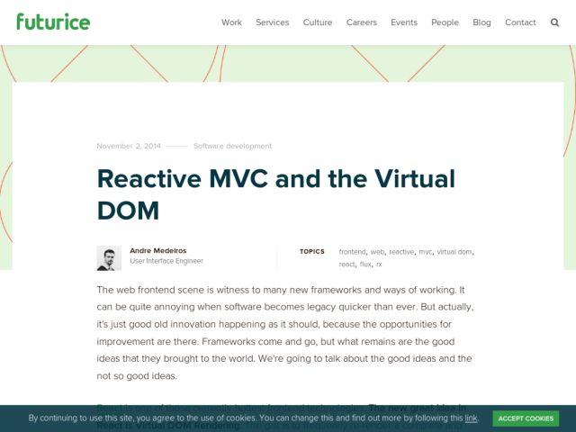 reactive mvc virtual dom