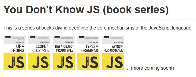 you dont know javascript