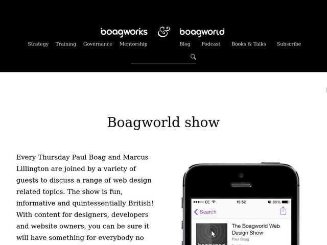 Boagworld Podcast