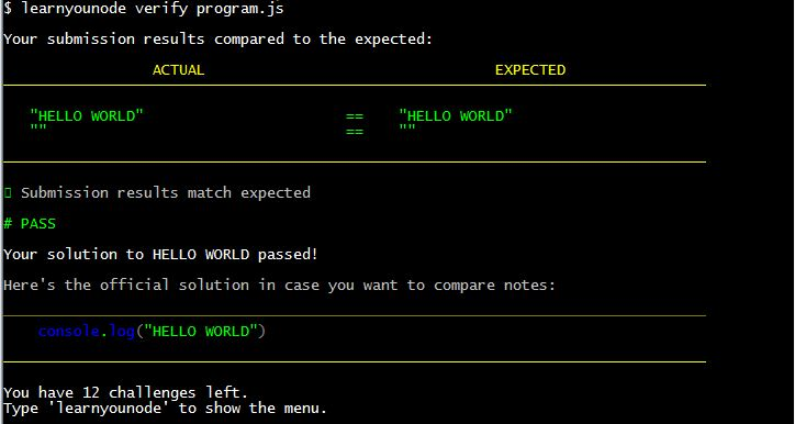 learnyounode verify programjs