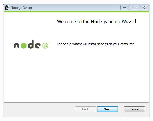welcome to nodejs setup wizard